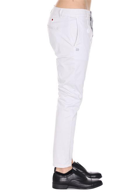 Pantalone Classico Tinta Unita Con Applicazione Daniele Alessandrini DANIELE ALESSANDRINI | Pantaloni | PJ5733L100403123