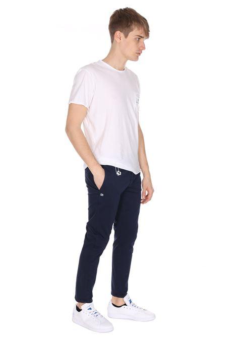 Pantalone Classico Tinta Unita Con Applicazione DANIELE ALESSANDRINI | Pantaloni | PJ5733L100403150