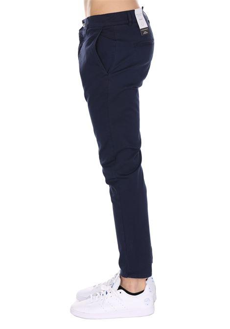 Pantalone Classico Tinta Unita Con Applicazione Daniele Alessandrini DANIELE ALESSANDRINI | Pantaloni | PJ5733L100403150