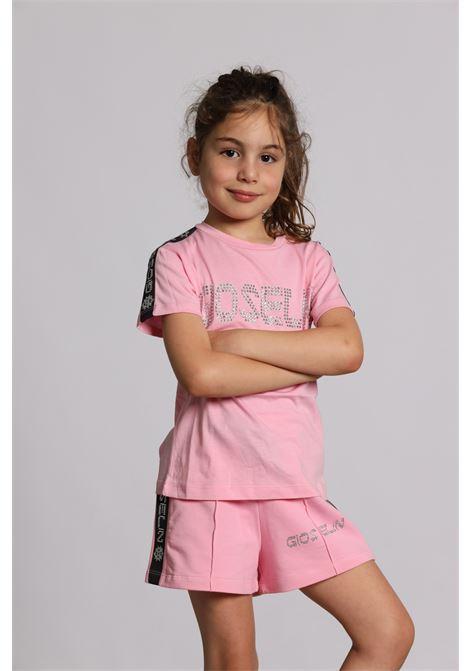 Short Logato Con Molla S1520 S GIOSELIN | T-shirt | S1520 SROSA