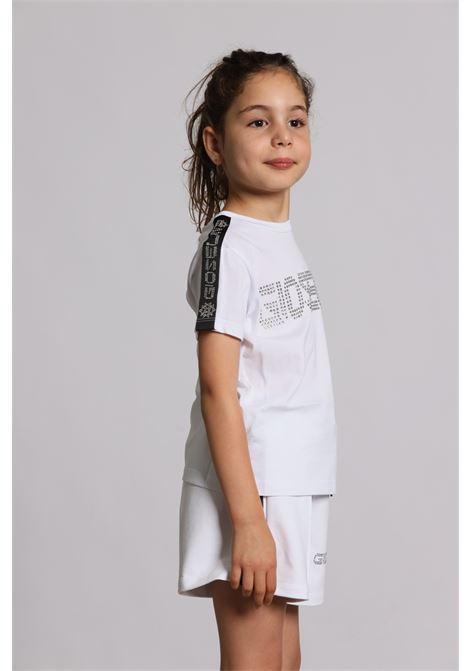 T-shirt Con Applicazioni S1520 GIOSELIN | Shorts | S1520BIANCO