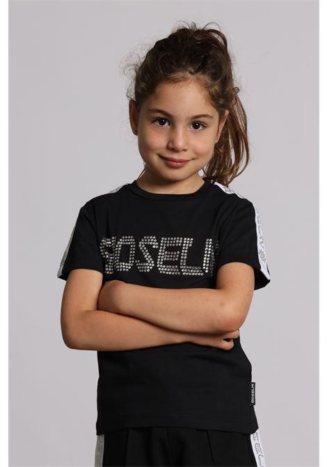 T-shirt Con Applicazioni S1520 GIOSELIN | Shorts | S1520NERO