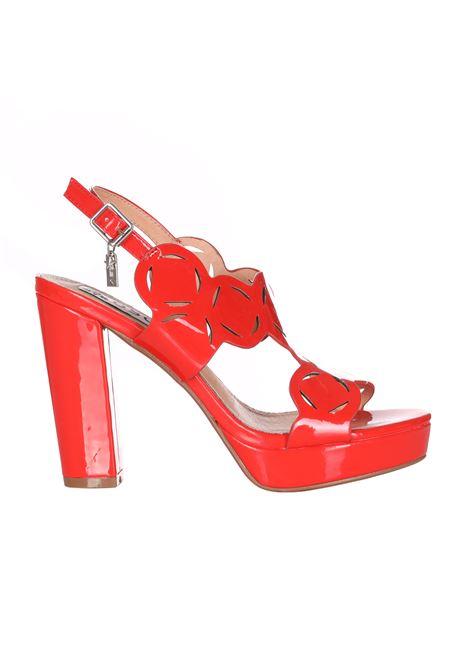 Sandalo Con Tacco Doppio E Cinturino OSEY | Party Shoes | SA0723CORALLO