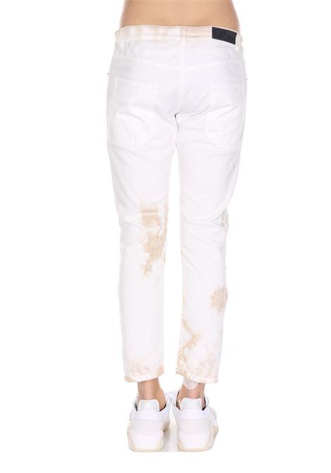 Jeans Tinta Unita Con Stampa PAURA | Jeans | 03PM4016M07721WHITEBEIGE