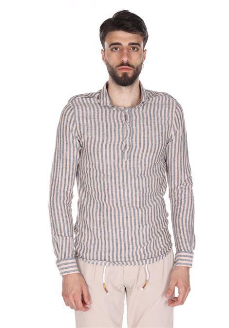 Camicia In Lino Ce533ss SSEINSE | Camicie | CE533SSBEIGE/BLU