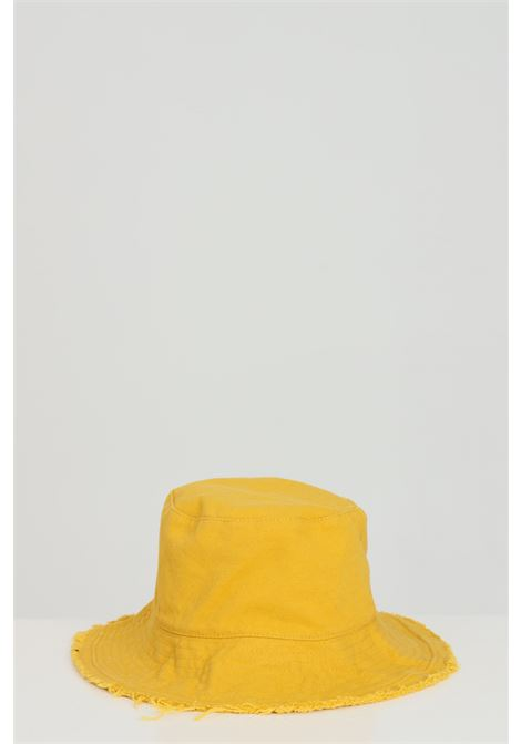 Yellow hat with fringes, fisheman model. Brand: Addicted  ADDICTED | Hat | BUCKET-HATGIALLO