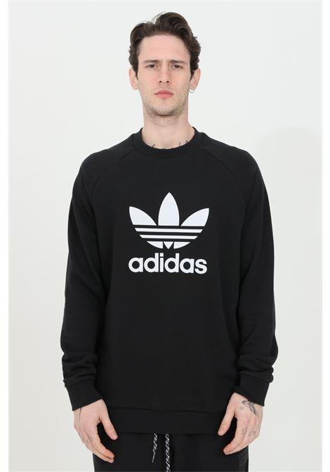 Sweatshirt man black adidas crewneck trefoil warm-up crew ADIDAS | Sweatshirt | CW1235.