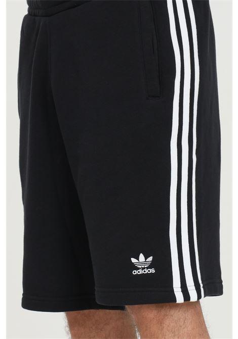 Black adidas 3-stripes shorts with elastic waistband ADIDAS | Shorts | DH5798.