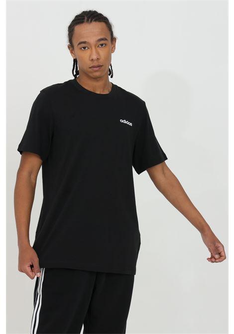 T-shirt tinta unita con logo a contrasto ADIDAS | T-shirt | DU0367.