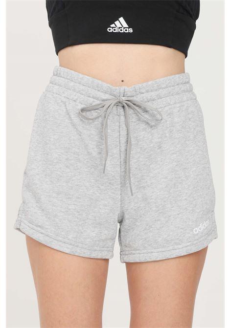 Shorts donna grigio adidas sport con elastico in vita e lacci ADIDAS | Shorts | DU0675.