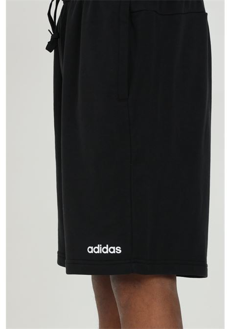 Men's shorts black adidas solid color with spring at the waist ADIDAS | Shorts | DU7835.
