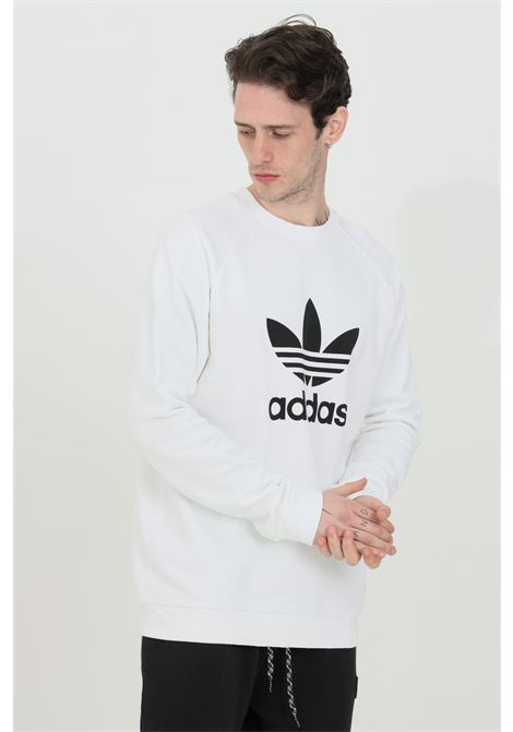 Men's adidas white sweatshirt crewneck trefoil warm-up crew ADIDAS | Sweatshirt | DV1544.