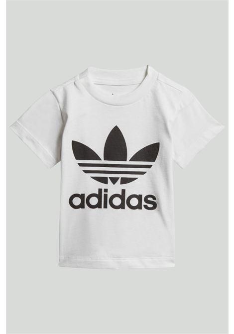 T-shirt neonato bianca adidas trefoil ADIDAS | T-shirt | DV2828.