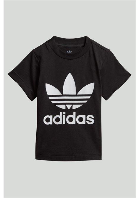 T-shirt neonato nera adidas trefoil ADIDAS | T-shirt | DV2829.
