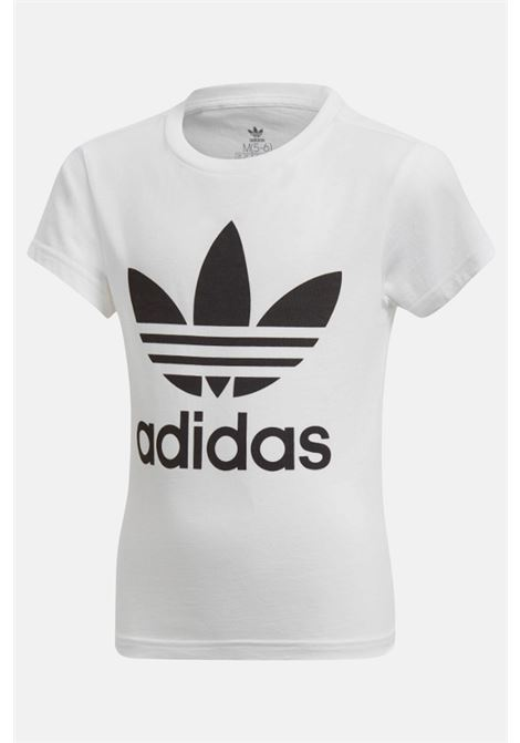 White baby t-shirt with maxi logo on the front adidas ADIDAS | T-shirt | DV2857.