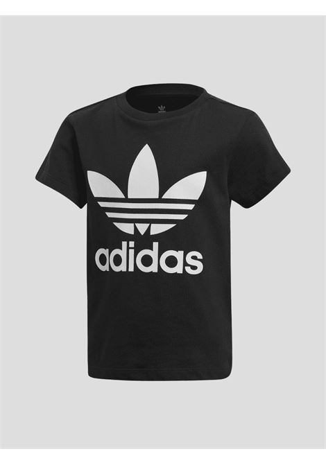 Black baby t-shirt with maxi logo on the front adidas ADIDAS | T-shirt | DV2858.