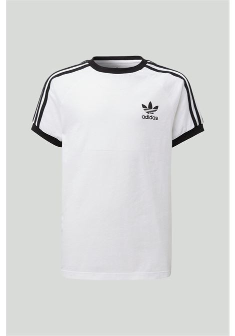 White 3-stripes t-shirt with contrasting logo. Baby model. Brand: Adidas ADIDAS | T-shirt | DV2901.