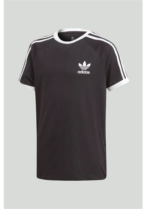 Black 3-stripes t-shirt with contrasting logo adidas ADIDAS | T-shirt | DV2902.