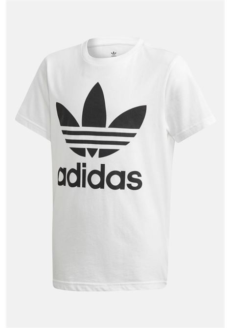 White t-shirt with maxi logo in contrast, short sleeves. Baby model. Brand: Adidas ADIDAS | T-shirt | DV2904.