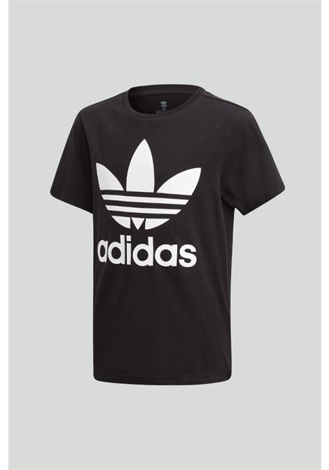 Black t-shirt with maxi logo in contrast, short sleeves. Baby model. Brand: Adidas ADIDAS | T-shirt | DV2905.