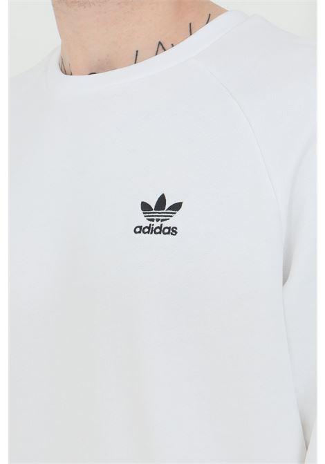 White men's sweatshirt adidas crew neck loungewear trefoil essentials ADIDAS | Sweatshirt | ED6208.