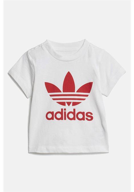 Completino adidas trefoil neonato bianco rosso ADIDAS | Completini | ED7667.
