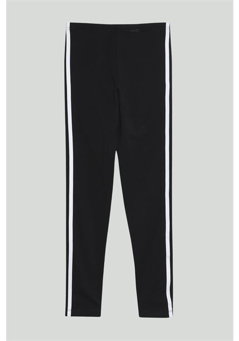 Black 3-Stripes leggings with contrasting side band and front logo. Baby model. Brand: Adidas ADIDAS | Leggings | ED7820.