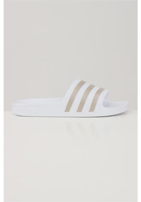 Ciabatte unisex bianco adidas con bande a contrasto ADIDAS | Ciabatte | EF1730.