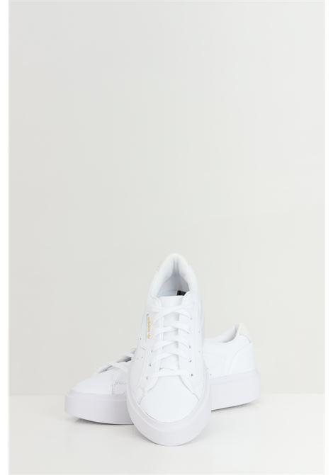 White unisex adidas sleek super w sneakers  ADIDAS | Sneakers | EF8858.