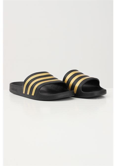 Ciabatte unisex nero-oro adidas ADIDAS | Ciabatte | EG1758.