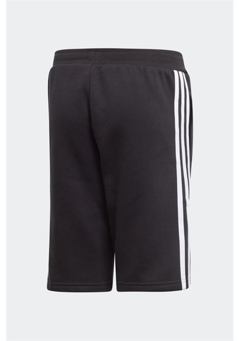 Shorts fleece bambino unisex nero con elastico in vita ADIDAS | Shorts | EJ3250.