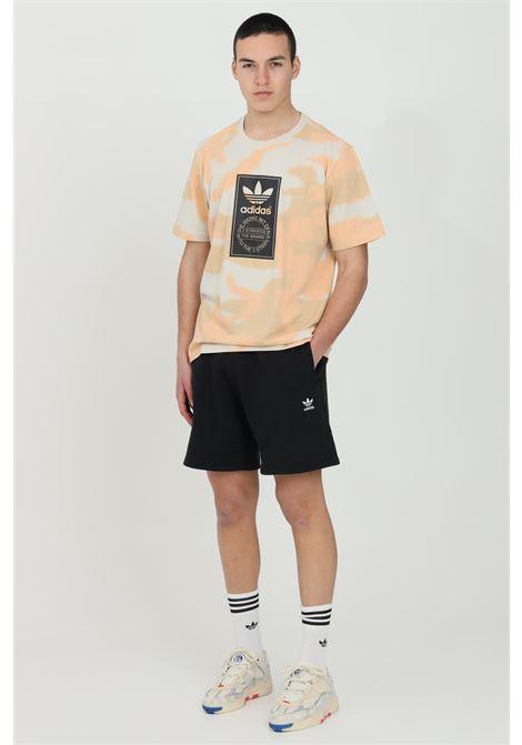Shorts uomo nero adidas in felpa piccolo logo trifoglio ADIDAS | Shorts | FR7977.