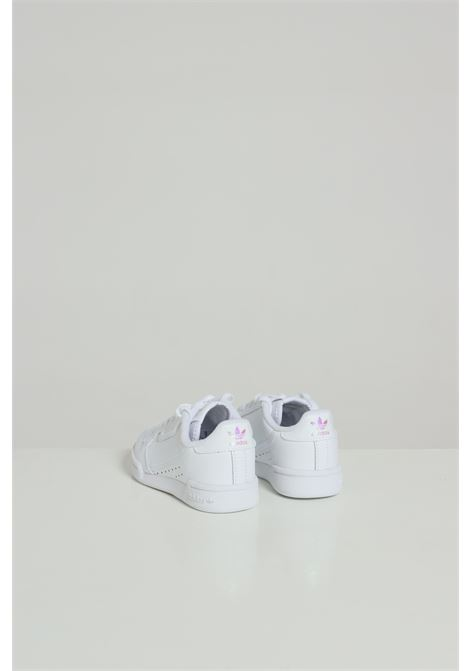 White Continental 80 sneakers, closure with laces. Baby model. Brand: Adidas ADIDAS | Sneakers | FU6668.