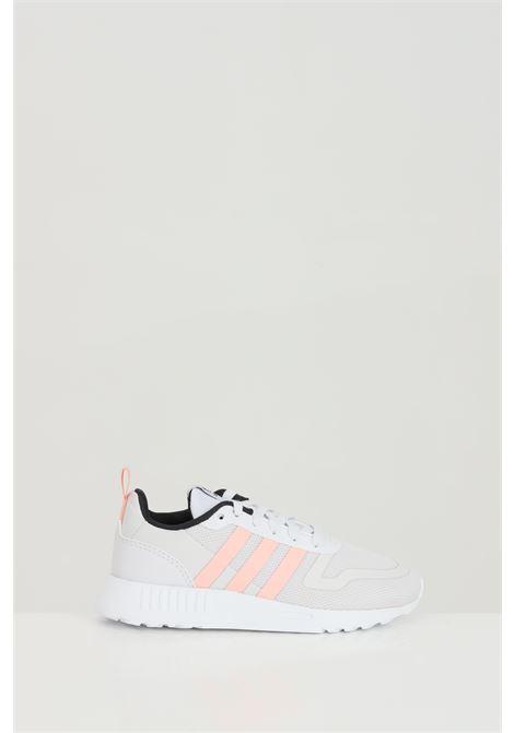 Sneakers multix bambina grigie Adidas con bande laterali rosa a contrasto ADIDAS | Sneakers | FX6401.