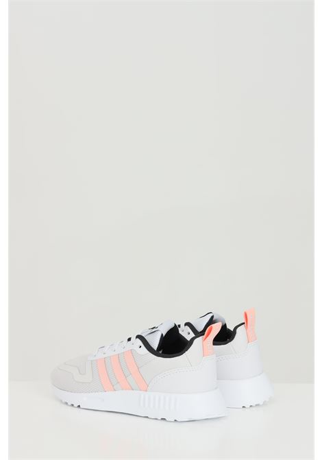 Grey multix sneakers with contrasting pink bands. Baby model. Brand: Adidas ADIDAS | Sneakers | FX6401.