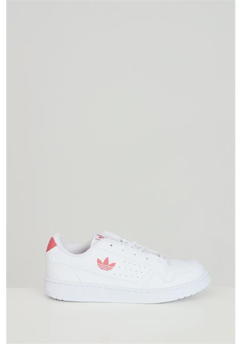 Sneakers NY 90 bambina bianche Adidas in tinta unita con logo laterale ADIDAS | Sneakers | FX6475.