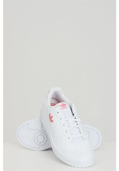 White Ny 90 sneakers in solid color with side logo, closure with laces. Baby model. Brand: Adidas ADIDAS | Sneakers | FX6475.
