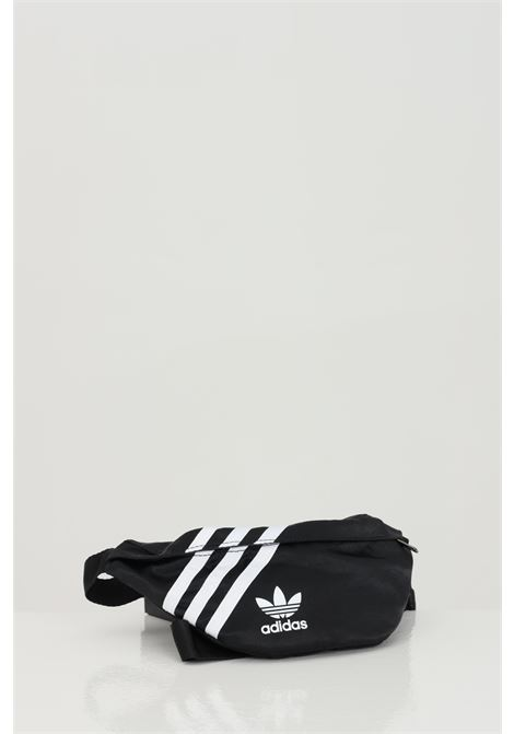 Black unisex pouch with contrasting logo and bands adidas ADIDAS | Pouch | GD1649.