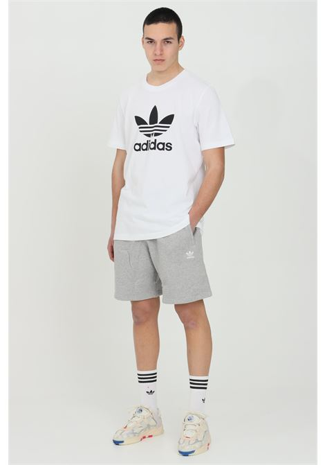 Men's adidas gray sweatshirt small logo clover. Elasticated waist and side pockets ADIDAS | Shorts | GD2555.