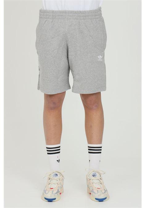 Shorts uomo grigio adidas in felpa piccolo logo trifoglio ADIDAS | Shorts | GD2555.