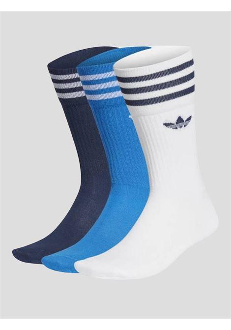 Multicolor unisex solid crew 3 pack socks adidas ADIDAS | Socks | GD3580.