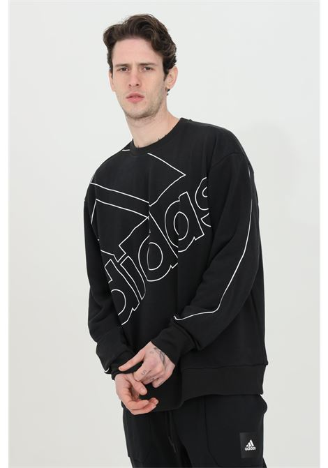 Crew neck sweatshirt with giant logo in contrast ADIDAS | Sweatshirt | GK9374.