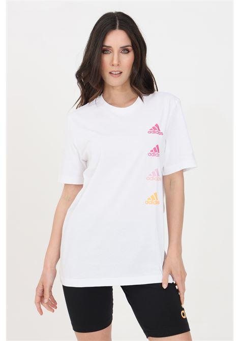 White women's performance t-shirt with short sleeve adidas ADIDAS   T-shirt   GK9416.