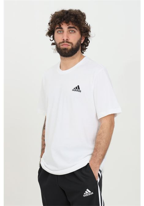 T-shirt essential uomo bianco adidas a manica corta ADIDAS | T-shirt | GK9640.