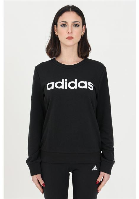 Felpa donna nera adidas girocollo ADIDAS | Felpe | GL0718.