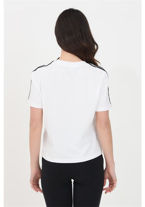 White women's t-shirt short sleeve with side bands adidas ADIDAS | T-shirt | GL0778.