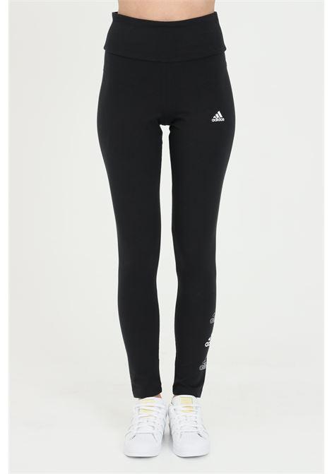Leggings donna nero adidas a vita alta ADIDAS | Leggings | GL1396.
