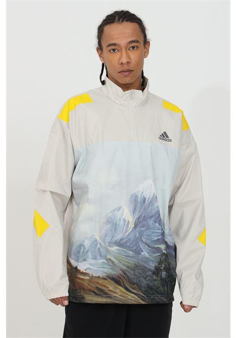 Sweatshirt with half zip and front print ADIDAS | Sweatshirt | GL5698.