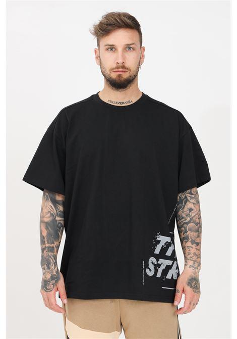 Black men's t-shirt with contrasting print short sleeve adidas ADIDAS | T-shirt | GL8714.
