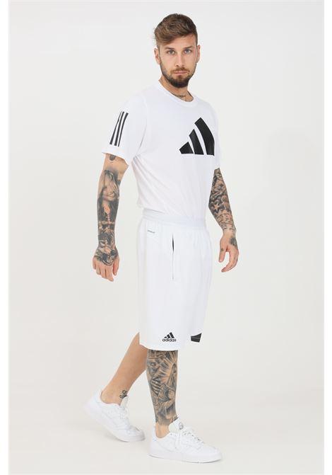 White men's shorts side pockets with zip adidas  ADIDAS | Shorts | GL8969.
